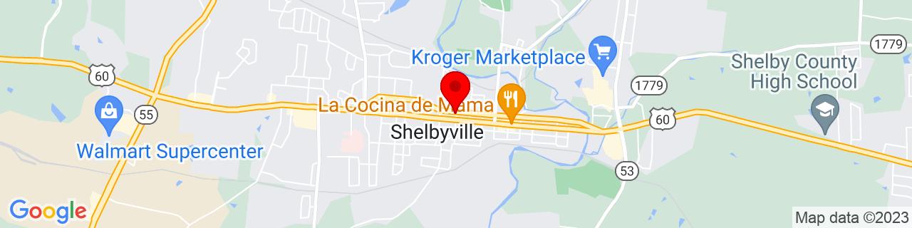 Google Map of 38.2120144, -85.2235666