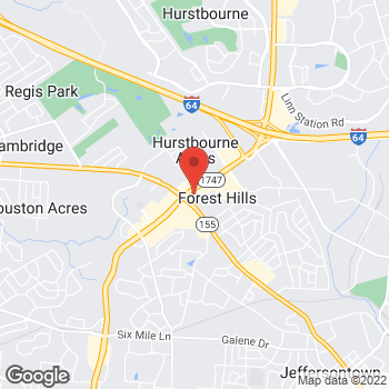 Map of Panera Bread at 2125 S Hurstbourne Pkwy, Louisville, KY 40220