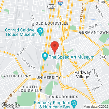 Map of Taco Bell at 1801 South Brook Street, Louisville, KY 40208