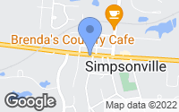 Map of Simpsonville, KY