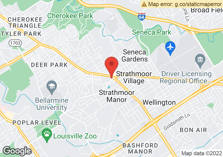 Google Map of 2490 BARDSTOWN RD