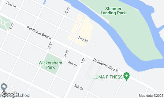 Map of Buckhorn Tavern at 615 Petaluma Blvd S Petaluma, CA