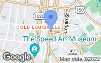 Map of Louisville, KY