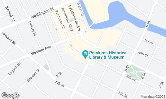 Map of Mystic Theatre at 23 Petaluma Blvd Petaluma, CA