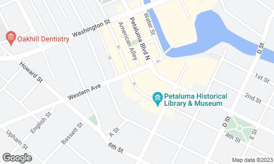 Map of Brixx at 16 Kentucky St Petaluma, CA