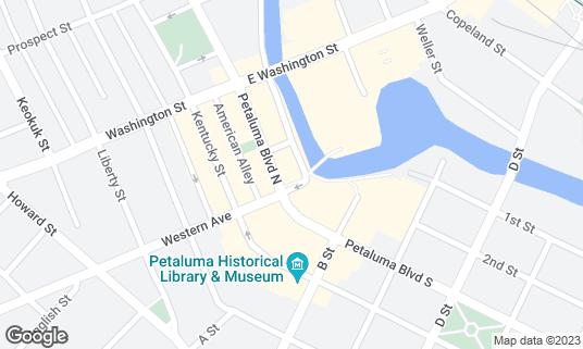 Map of Gale's Central Club at 106 Petaluma Blvd N Petaluma, CA