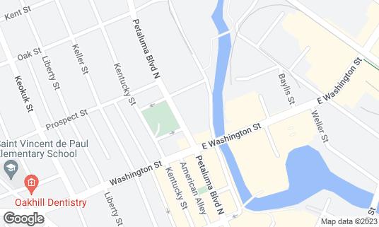 Map of Brewsters Beer Garden at 229 Water St Petaluma, CA