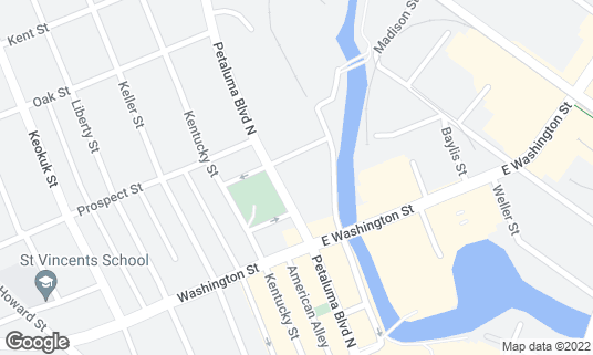 Map of Buffalo Billiards at 246 Petaluma Blvd N Petaluma, CA
