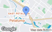 Map of Petaluma, CA