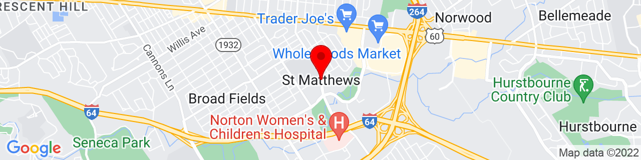 Google Map of 38.2435659, -85.63577889999999