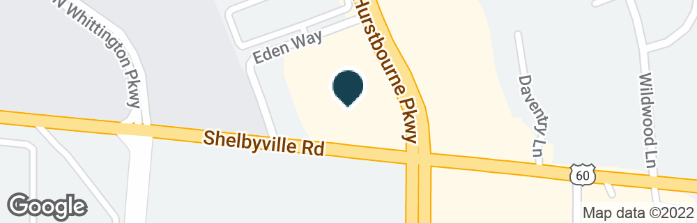 Google Map of9409 SHELBYVILLE RD