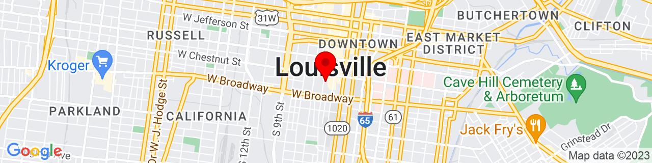 Google Map of 38.2481044, -85.7593218