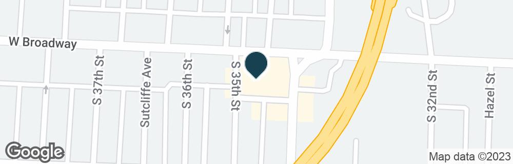 Google Map of3410 W BROADWAY