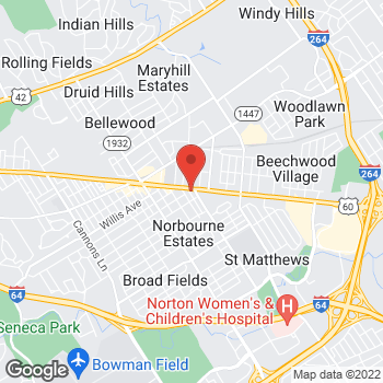 Map of Fifth Third Mortgage - Mary Benford at 4090 Shelbyville Road, St. Matthews, KY 40207
