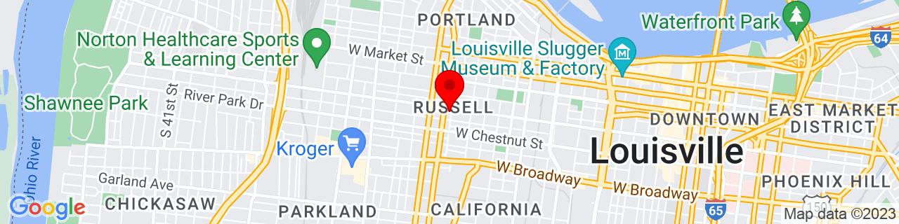Google Map of 38.2537926, -85.7850685