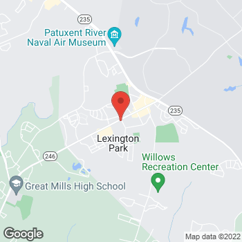 Map of Burger King at 21650 Great Mills Rd, Lexington Park, MD 20653