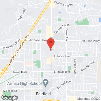 Map of Check `n Go Texas Street at 2121-2125 North Texas Street, Fairfield, CA 94533