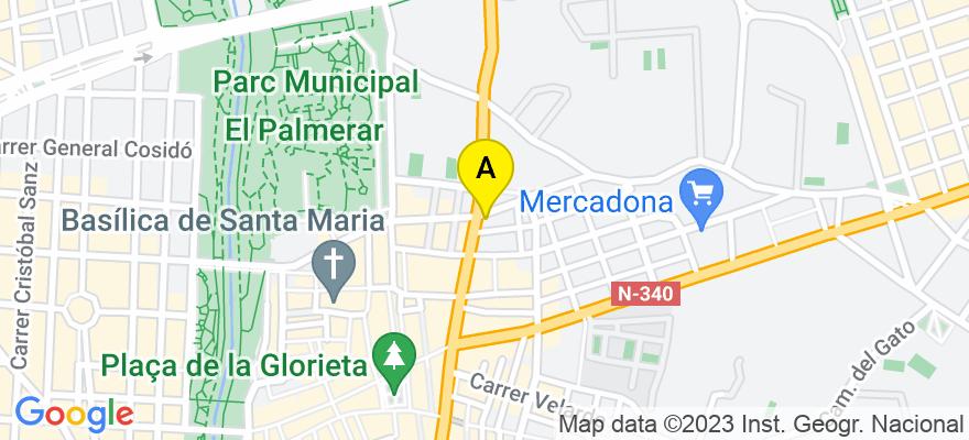 situacion en el mapa de . Direccion: C/ LUIS GONZAGA LLORENTE, 4 BAJO., 03202 Elche/Elx. Alicante