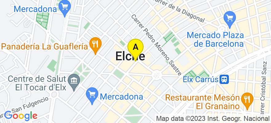 situacion en el mapa de . Direccion: C/Oscar Esplá 14, Entlo., 03201 Elche/Elx. Alicante