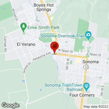 Map of Staples® Print & Marketing Services at 977 West Napa Street, Sonoma, CA 95476