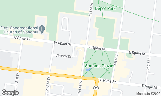Map of El Dorado Hotel & Kitchen at 405 1st St W Sonoma, CA