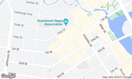 Map of Eiko's at 1385 Napa Town Ctr Napa, CA