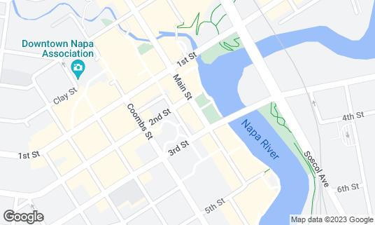 Map of Carpe Diem at 1001 2nd St Napa, CA