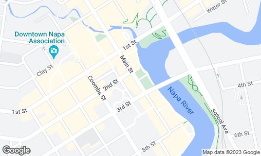 Map of Napkins Bar + Grill at 1001 2nd St Napa, CA