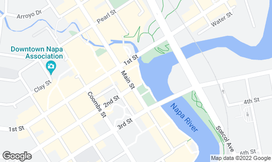 Map of Downtown Joe's Brewery and Restaurant at 902 Main St Napa, CA