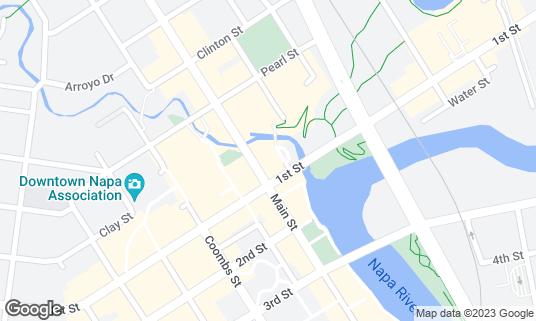Map of Blue Note Napa at 1030 Main St Napa, CA