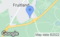 Map of Fruitland, MD