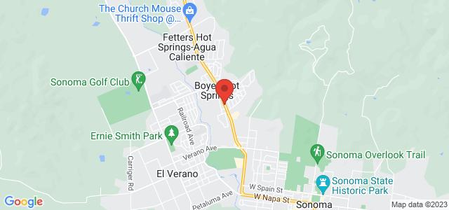 Sonoma Mission Florist Map