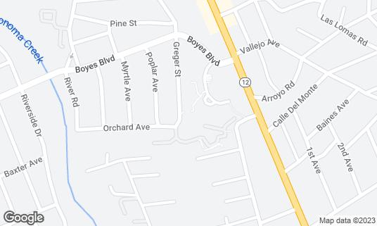 Map of Fairmont Sonoma Mission Inn & Spa at 100 Boyes Blvd Sonoma, CA