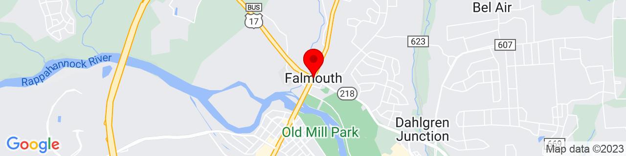 Google Map of 38.3240166, -77.4683177
