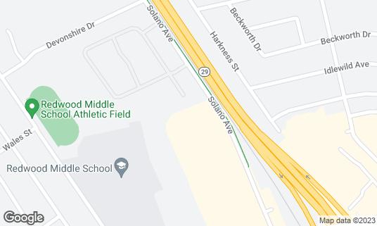 Map of Hilton Garden Inn Napa at 3585 Solano Ave Napa, CA