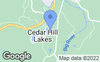 Map of Cedar Hill, MO