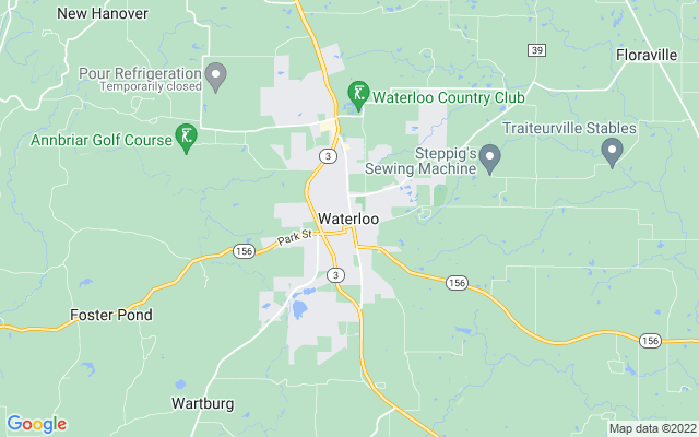 Waterloo on the map