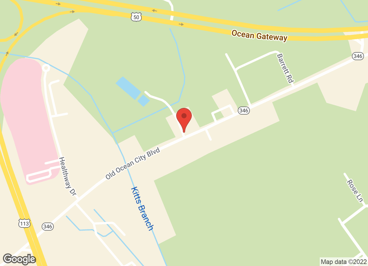 Google Map of VCA Delmarva Animal Hospital
