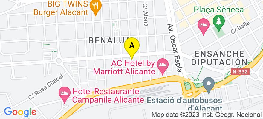 situacion en el mapa de . Direccion: Doctor Just 63, 2a, 03008 Alicante. Alicante