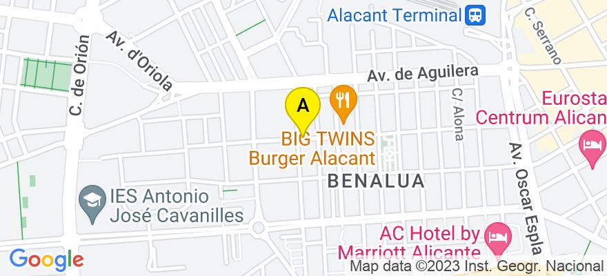 situacion en el mapa de . Direccion: CALLE PARDO GIMENO, 44, 1º, 03007 Alicante. Alicante