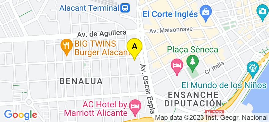 situacion en el mapa de . Direccion: Calle Carlet 3, 03007 Alicante. Alicante
