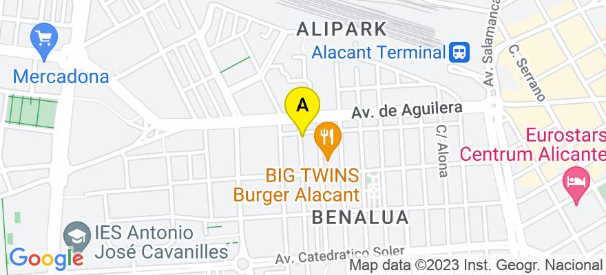 situacion en el mapa de . Direccion: calle capitán Dema 3 4º B, 03007 Alicante. Alicante