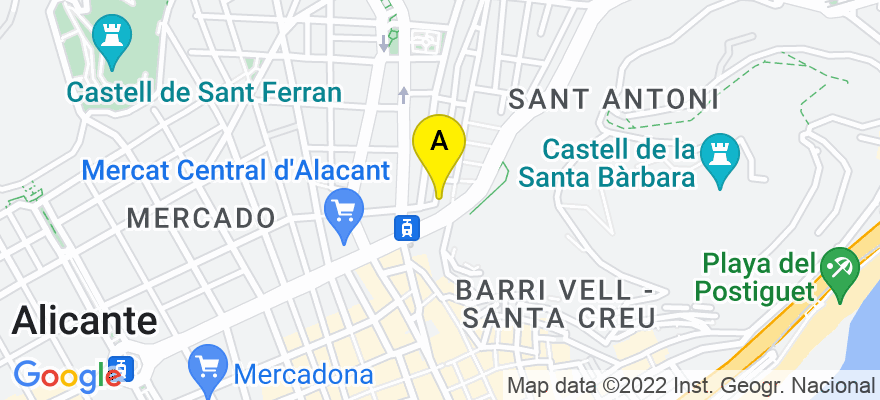 situacion en el mapa de . Direccion: calle pozo 18, 03004 Alicante. Alicante