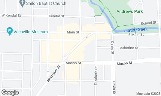 Map of Merchant and Main Grill & Bar at 349 Merchant St Vacaville, CA