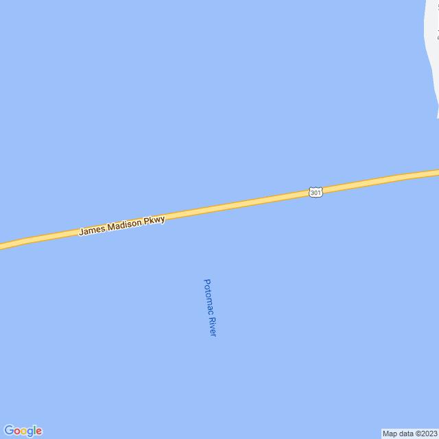 Map of Harry W Nice Memorial Bridge