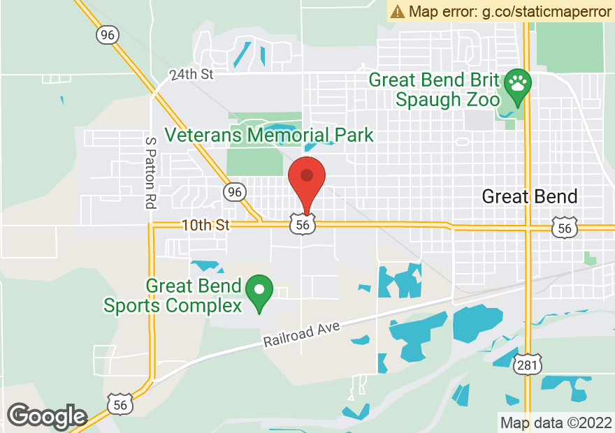Google Map of 3920 10TH ST