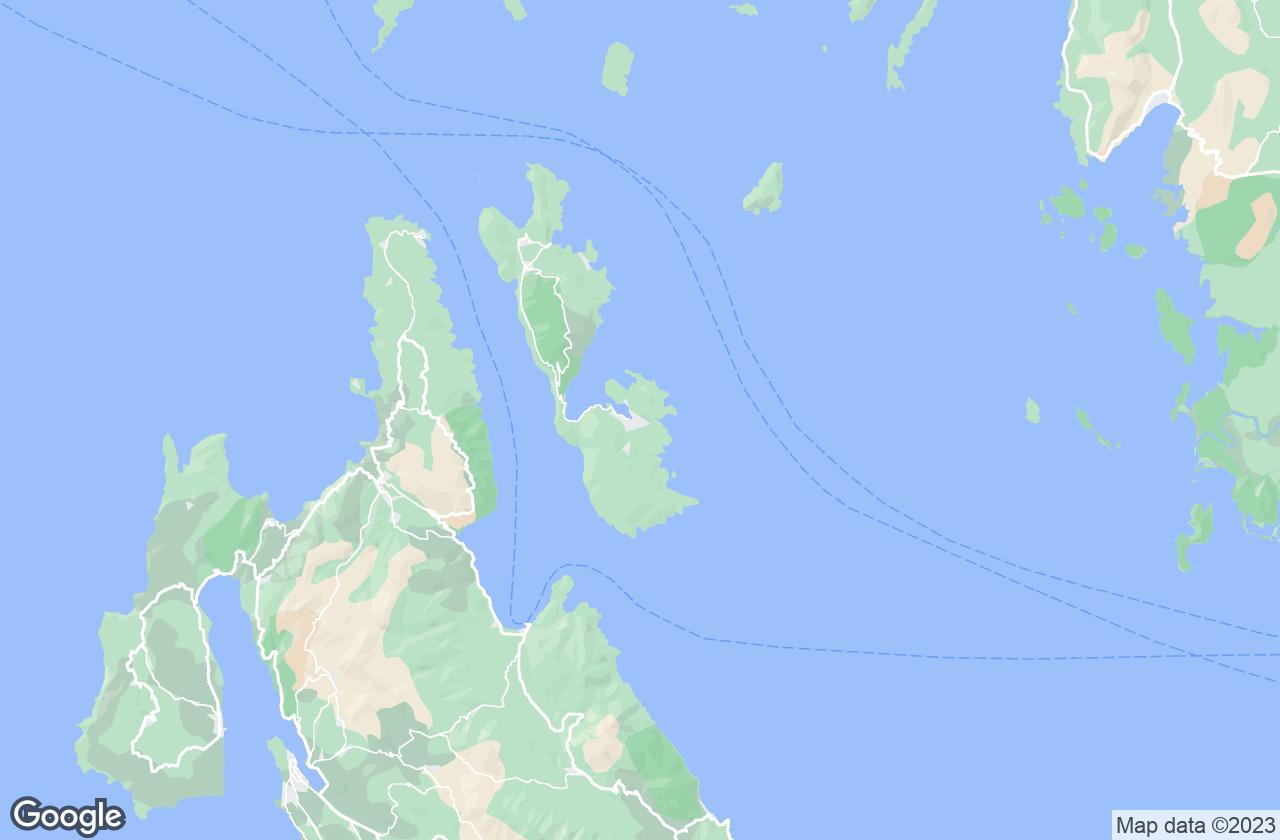 Google Map of جزيرة آيثاكي