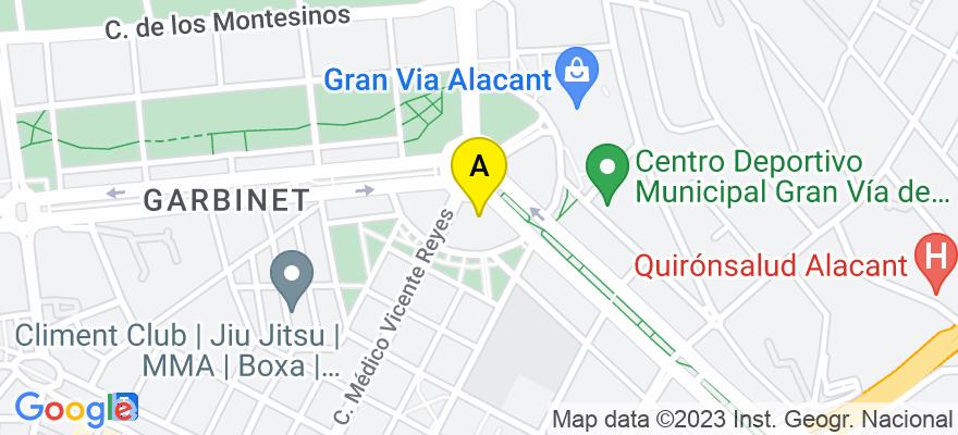 situacion en el mapa de . Direccion: Glorieta del Alcalde Agatángelo Soler | nº6 | Oficina E, 03015 Alicante. Alicante