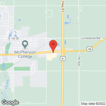Map of Arby's at 2200 E Kansas Ave, Mcpherson, KS 67460