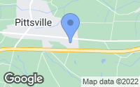 Map of Pittsville, MD